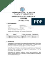Programa Analitico de Puentes 2011-2012 Tradicional