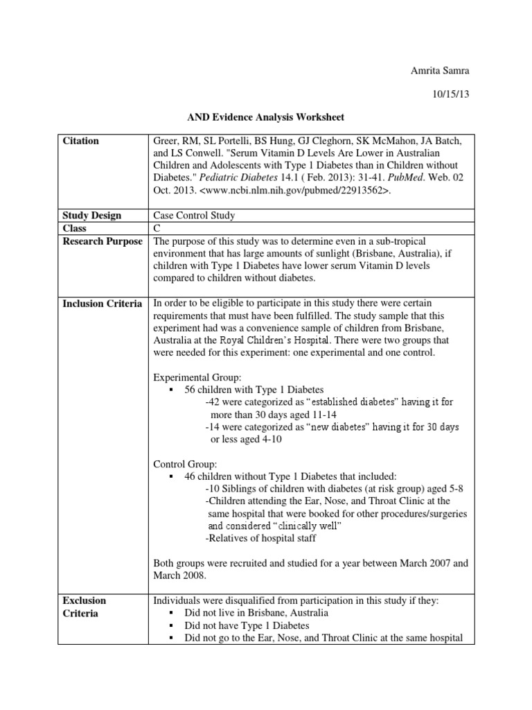 worksheet Citing Evidence Worksheet nfsc440 and evidence analysis worksheet ordinary least squares regression analysis