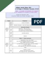 Programme Du Colloque d'Hiver 2013-Atelier