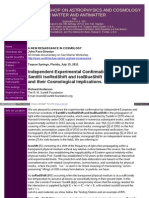 Ruggerro Santilli - Independent Eperimental Confirmation of Santilli IsoRedShift and IsoBlueShift