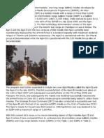 Agni Missiles