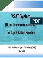 VSAT System (Rural Telecommunication) for Tupak Katari Satellite