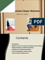 Unit 6 Business Buyer Behavior