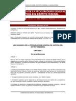 Ley Organica de La Procuraduria General de Justicia Del Distrito Federal