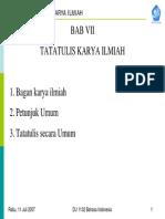Tatatulis Karya Ilmiah