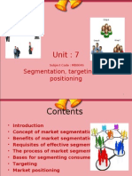 Unit 7 Segmentation Targeting and Positioning