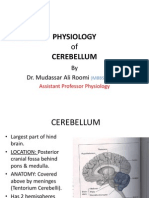 Lecture on PHYSIOLOGY of Cerebellum by Dr. Roomi