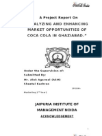 A Coca Cola Summer Training Report by Sheetal Kachroo