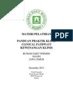 Dody Firmanda 2013 - Materi Pelatihan Panduan Praktik Klinis dan Clinical Pathways RS Widodo Ngawi Jawa Timur