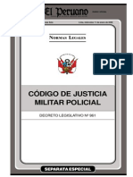 Código de Justicia Penal Policial