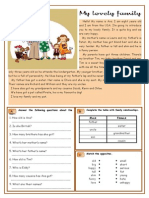 Islcollective Worksheets Elementary a1 Preintermediate a2 Adult Elementary School My Lovely Family 266944e7e579d5b8566 38425602