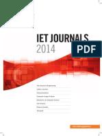IET Journals-2014 Catalogue