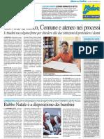 Lezione urbinate di Settis / Giovedì di fuoco, comune e Università nei processi - Il Resto del Carlino del 5 dicembre 2013