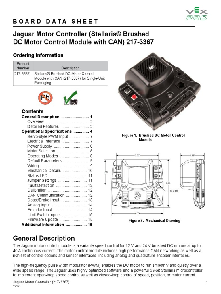 Ifi Jaguar Datasheet Control Theory Computer Engineering Wiring Mechanical Brake Switch
