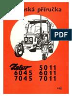 Zetor 5011, 6011, 6045, 7011, 7045 - dílenská příručka