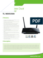 TL-WDR3500 V1 Datasheet