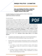 38. Consejo Político BaktunPosicion Politica frente la Reforma constitucional Grupo Pro Reforma