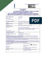 CB-REPORT-GT-41080-1812 -W3E IEC 61558-2-16_2009 (First Edition) IEC 61558-1 (Second Edition) + A1_2009 EN 61558-1_2005 + A1_2009 EN 61558-2-16_2009