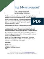 Site Licence Measurement