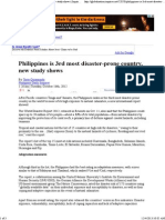 Philippines is 3rd Most Disaster-prone Country, New Study Shows _ Inquirer Global Nation