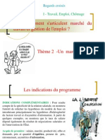 thème 2 -Un  marché du travail