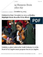 education week music training sharpens brain pathways studies say