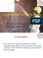 Use of Water in Construction