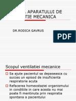 Setarea Aparatului de Ventilatie Mecanica Rodica.