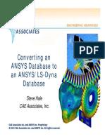 ANSYS to Dyna Summary