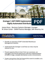 3103 Graingers SAP EWM Implementation at a Large Highly Automated Distribution Center
