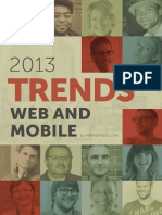 Web and Mobile TRENDS 2013 85699DFx78tgh
