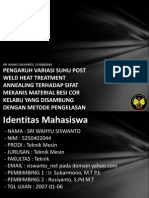 Pengaruh Variasi Suhu Post Wel 5250402044