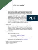 Introduction to Sas Programming
