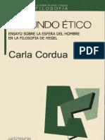 Cordua Carla - El Mundo Etico Hegel
