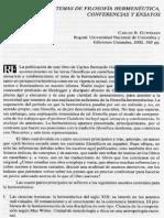 Carlos gutierrez; Filosofía hermenéutica