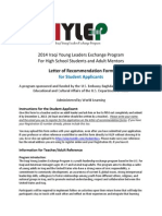 2014 i y Lep Student Recommendation