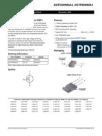 Datasheet Transistor 20n60a4