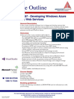 20487 Developing Windows Azure and Web Services