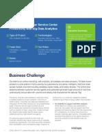 Increasing Customer Service Center Productivity & Big Data Analytics