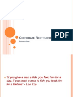 Corporate Restructuring - Intro