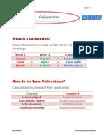 collocations - 2bac - unit 1 - vocabulary