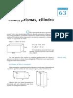 Telecurso - Aula 63 - Cubo, Prisma, Cilindro