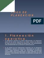 TIPOS DE PLANEACION