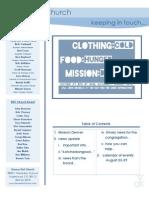 Newsletter - August 21, 2009
