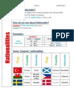 word net 1 - nationalities - cc - unit 1