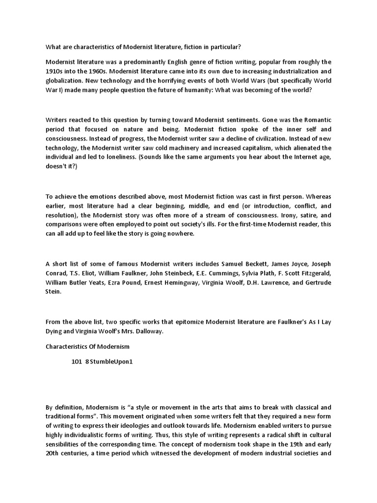 essay on modernism essay modernism postmodernism essay service by kate chopin that can be used as essay starters or