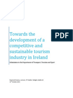 Submission to Department of Transport, Tourism and Sport on the development of a competitive and sustainable tourism industry in Ireland