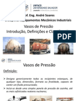 1. Vasos de Pressão - Introdição, Definições e Classificação