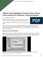 Mihaly Csikszentmihalyi_ Estado de Flow (Fluxo) como elemento de realização e alta performance