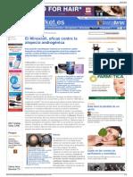 El Minoxidil, eficaz contra la alopecia androgénica